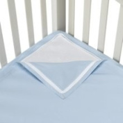 Clouds and Stars Quick Zip Zipper Base and Zipper Sheet Set - Blue