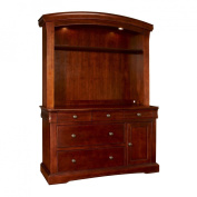 Westwood Stratton Hutch with Touchlight - Virginia Cherry