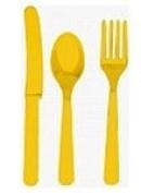 Sunshine Yellow Cutlery Set