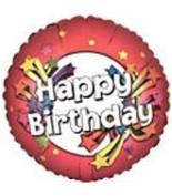 90cm Jumbo Happy Birthday Red with Shooting Stars