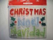 Christmas - Noel - Navidad Window Gel Clings