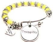 Tranquilly Glass Beaded Adjustable Bangle Bracelet ChubbyChicoCharms