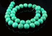 Green Tibetan Turquoise Gemstone 10-12mm Round Beads Strand String