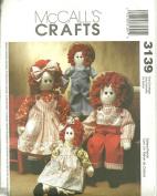 McCall's Crafts 3139 41cm & 60cm Ragdolls Pattern