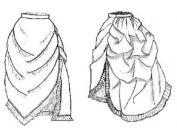 1870 - 1880's Bustled Apron Overskirt Pattern