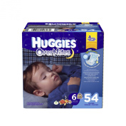 Huggies Overnites Size 6 Super Pack - 54 Count