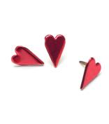 Painted Metal Heart Paper Fasteners - 50PK/Metallic