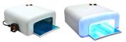 Puregadgets(c) White Professional Salon Quality 36W UV Nail Dryer Lamp Light Gel Curling Timer 4 X 9W Bulbs Nailart