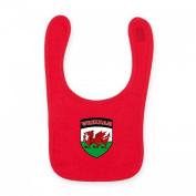 Baby Baby's Babies Wrexham FC Shield Crest Red Football Team Club Bib