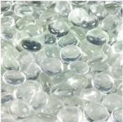 Dashington Flat Clear Marbles, Pebbles (1.1kg Bag) for Vase Filler, Table Scatter, Aquarium Decor, 250-300 Marbles Per Bag