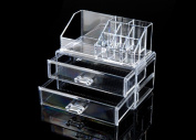 Beauty and Lifestyle Cosmetic Organiser .Luxury Jewellery Acrylic Makeup Case Drawer.lipstick Holder