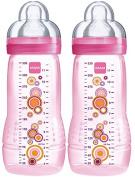 Mam 950501 Baby Bottle 330 ml 2-Pack For Girls