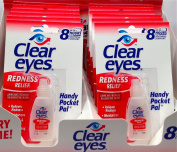6 PACK OF CLEAR EYES DROPS REDNESS RELIEF 0.2 OZ.6 ML , EXP