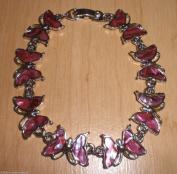 Genuine Paua Shell Pink Butterfly Bracelet