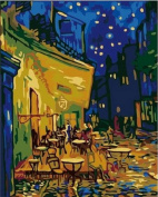 PaintingStudio DIY Painting by number kits Vincent Van Gogh Cafe Terrace at Night 41cm x 50cm