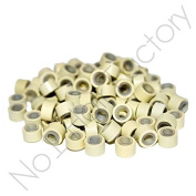 1000Silicone Micro Rings Links Hair Extensions Beige