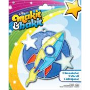 Colorbok TB-48948 Makit and Bakit Suncatcher Kit, Rocket