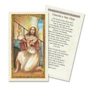 Oracion a San Alejo Tarjeta Plastificada Viene Con Veladora O Sola
