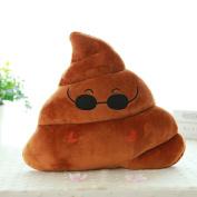 Sandistore Emoji Emoticon Cushion Poo Shape Pillow Doll Toy Throw Pillow (Sunglass 1(23*20cm