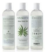 Natur-Sense Aloe Vera Gel - 99.75% Certified Organic - 350ml - For Face, Hair, Anti-Ageing, Sunburn, Natural Relief from Acne, Psoriasis, Eczema, Skin Irritations