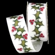 Mini Spool - Satin Holly & Berries Ribbon - 1.8m
