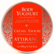 Attirance - Body Yoghurt - Grapefruit - 200ml - All Natural with Grapefruit Essential Oil, Avocado Oil & Lemon Extract
