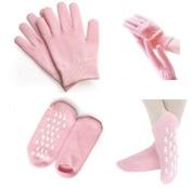 Healtheveryday®Moisturising Silicone Gel Gloves & Gel Socks Beauty Spa Moisturising Skin Care Soften Repair Cracked Therapy Treatment