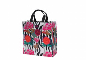 Joann Marie Designs P2SBAFP Poly Shopping Bag - Asian Floral Pack of 6