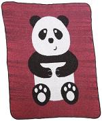 Green 3 Bear Hug Throw Blanket, Purple