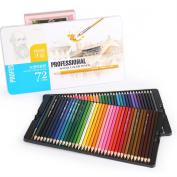 Zebratown 72 Art Drawing Colour Pencils, Coloured Pencils for The Sketch Artist Watercolour Set,Great for Secret Garden Colouring Book!