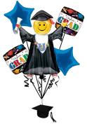 Veil Entertainment Congrats Grad 6pc Balloon Pack Blue