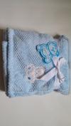 Little Mimos Honeycomb Baby Blanket, 80cm x 80cm Bear