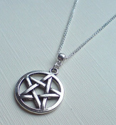 Silver Pentagram Necklace , Silver Pentacle Necklace , Large Pentagram Necklace , Large Pentacle Necklace , Wiccan Jewellery , Pagan Jewellery