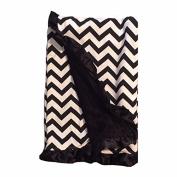 BayB Brand Blanket - Black Chevron