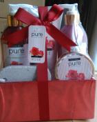 Pink Peony Spa Gift Basket