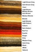 Crepe Wool Hair- Dark Brown Grey Colour for Doll Making or Theatrical Uses