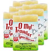 OMy! Goat Milk Soap Travellers - Bundle of 6 - Fragrance Free