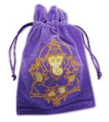 Find Something Different Unisex-Child Ganesh Luxury Velvet Tarot Card Bag 180 X 130Mm Purse