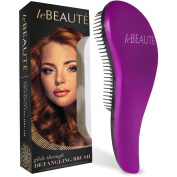 Le Beaute Detangling Hair Brush - Professional Salon Quality Wet and Dry Brush for Tangles w/ No Pain - Perfect For Thick, Wavy, Curly, or Thin Hair on Women, Girls and Kids - Purple