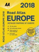 AA Road Atlas Europe: 2018