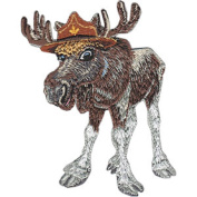 Moose - Animal Club - Iron on or Sew on Embroidered Patch
