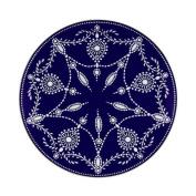 Lenox Marchesa Couture Accent Plate, Empire Pearl Indigo
