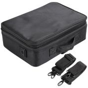 Yaheetech Professional Makeup Bag Portable Cosmetic Beauty Case Storage Box Travel Carry,Black