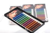 THINKSHOW Rainbow Individual Eyelash Extensions 0.07mm C Curl Multi-Coloured Eye Lash
