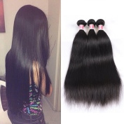 Beauty Princess Burmese Virgin Hair Straight 3pcs With Closure, Unprocessed Human Hair Weave 3 Bundles Burmese Straight Virgin Hair With Free Part Closure Natural Colour.